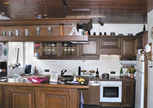 modernes haus : küche weiß lackieren shab landhaus vorher nachher
